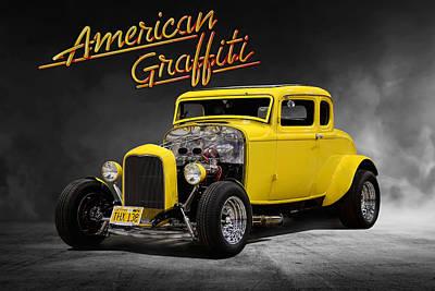 1932 Ford Digital Art - American Graffiti by Peter Chilelli