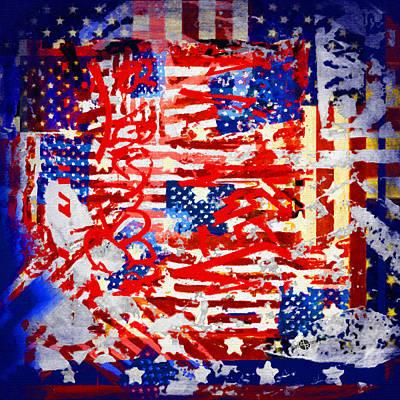 Patriotic Painting - American Graffiti Presidential Election 1 by Tony Rubino