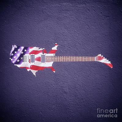 Egypt Digital Art - American Guitar By Sarah Kirk by Sarah Kirk