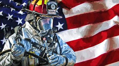 Safety Gear Digital Art - American Hero by Theo Westlake