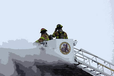 First Responders Wall Art - Photograph - American Heroes by David Bearden