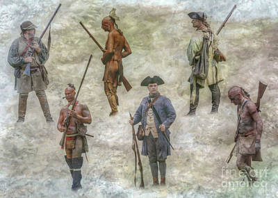 Digital Art - American History Past French And Indian War by Randy Steele