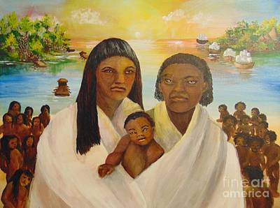 Art Print featuring the painting American Holocaust Survivors by Saundra Johnson