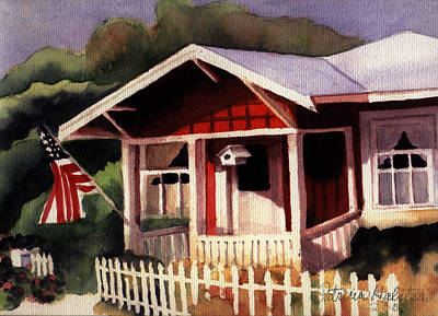 American Home Art Print by Patricia Halstead