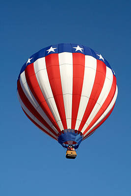 Photograph - American Hot Air Balloon by Nicolas Raymond