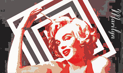 Marilyn Monroe Painting - American Icon # 1 by Coconut Lime Design