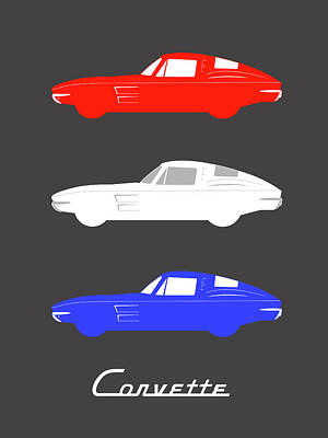 Stingray Photograph - American Icon - Corvette Stingray by Mark Rogan