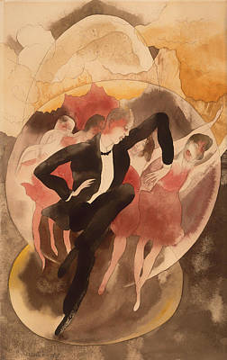 American In Vaudeville - Dancer With Chorus Art Print by Mountain Dreams