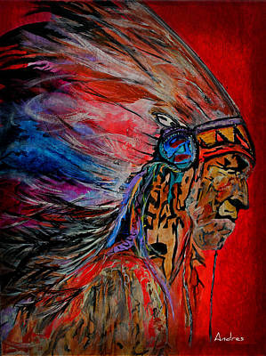 Painting - American Indian by Andres Gonzalez