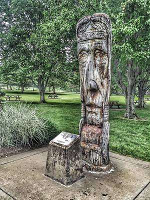 Photograph - American Indian Carving by Debra Martz