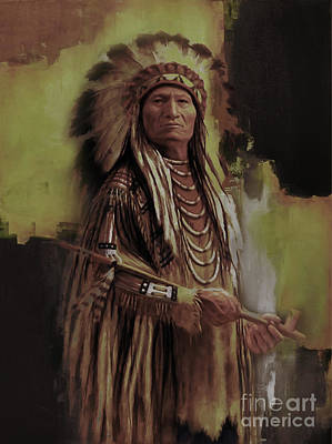 First Tribes Painting - American Indian  by Gull G