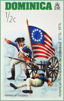 Bicentennial Painting - American Infantry by Lanjee Chee