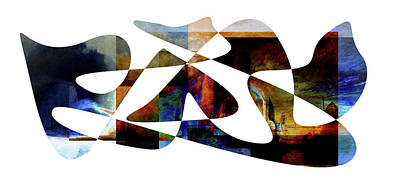 Foreboding Digital Art - American Intellectual 12 by David Bridburg
