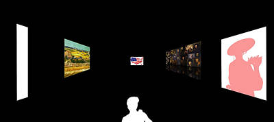 Sun Hat Digital Art - American Intellectual 8 by David Bridburg