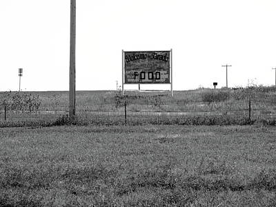 Photograph - American Interstate - Kansas I-70 Bw 2 by Frank Romeo
