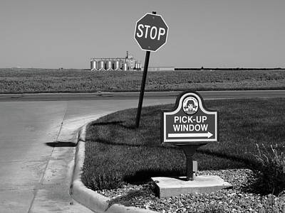 Photograph - American Interstate - Kansas I-70 Bw 3 by Frank Romeo