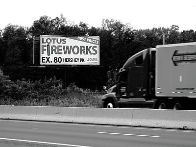 Photograph - American Interstate - Pennsylvania I-80 Bw 2 by Frank Romeo