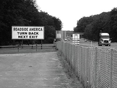 Photograph - American Interstate - Pennsylvania I-80 Bw by Frank Romeo
