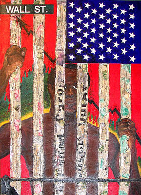 Racism Mixed Media - American Just Us - Px5 by Melvin  Robinson