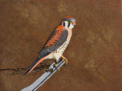 Painting - American Kestrel by Mike Robles