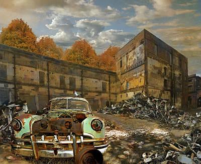 Antique Automobiles Photograph - American Landscape Circa 2012 by Jeff Burgess