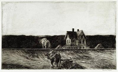 Digital Art - American Landscape by Edward Hopper