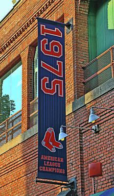 Photograph - American League Championship Banner # 1 - Fenway Park by Allen Beatty
