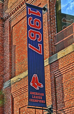Photograph - American League Championship Banner # 2 - Fenway Park by Allen Beatty