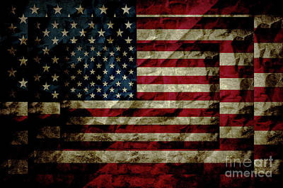 Photograph - American Leather Flag by Doc Braham
