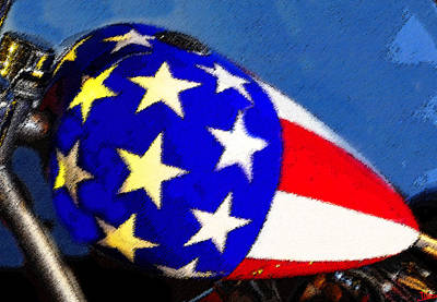 Red White And Blue Digital Art - American Legend by David Lee Thompson