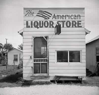American Liquor - Texas 1943 Art Print by Daniel Hagerman