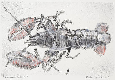 Painting - American Lobster, Sea Food Still Life by Martin Stankewitz