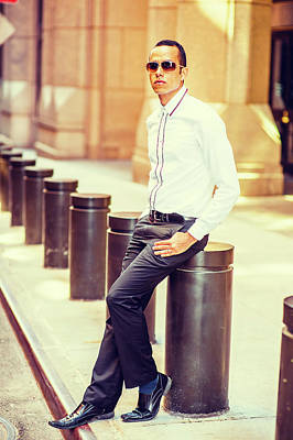 Photograph - American Man Street Fashion In New York by Alexander Image