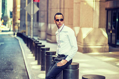 Photograph - American Man Traveling In New York by Alexander Image