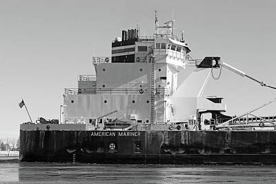 Photograph - American Mariner Detail 1 Bw.jpg by Mary Bedy
