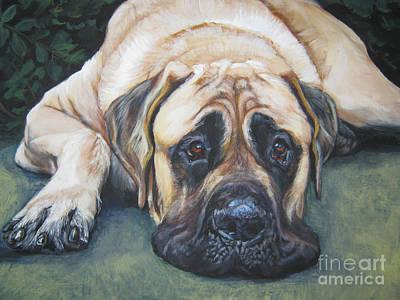 Mastiff Wall Art - Painting - American Mastiff by Lee Ann Shepard