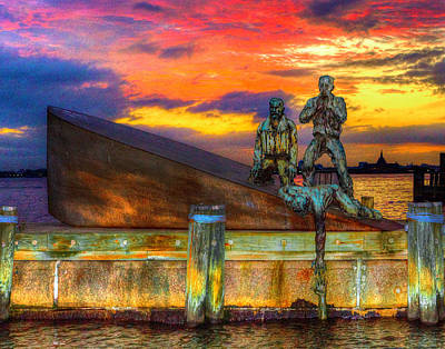 Photograph - American Merchant Mariners Memorial 001 by Jeff Stallard