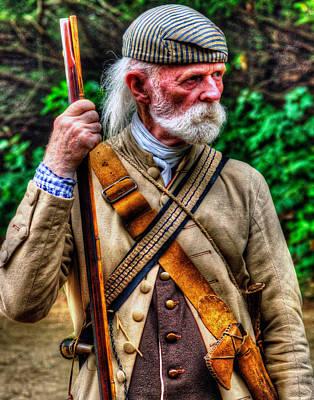 Photograph - American Militia 001 by Jeff Stallard