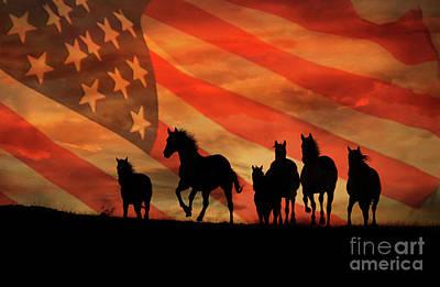 American Mustangs Art Print