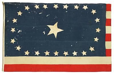 American National Flag Commemorating Arkansas Art Print by MotionAge Designs