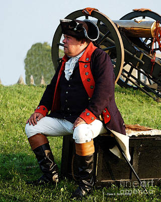 Oneida Painting - American Officer 1776 by Diane E Berry