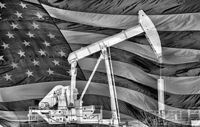 American Oil Art Print by JC Findley