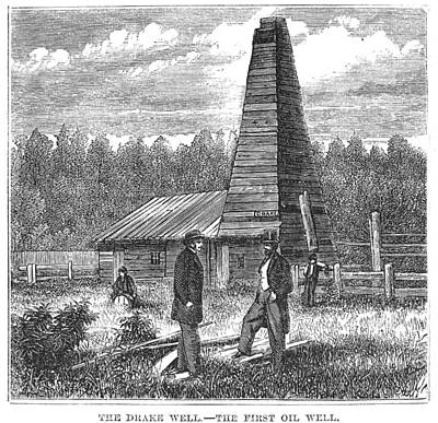 Titusville Photograph - American Oil Well, 1859 by Granger
