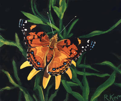Painting - American Painted Lady by Rebeca Gallant