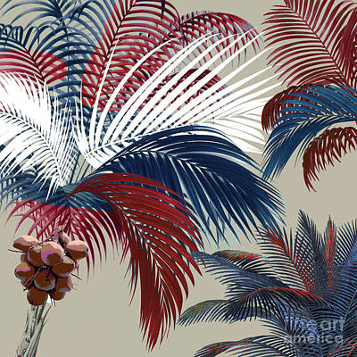 Palm Frond Painting - American Palm by Mindy Sommers