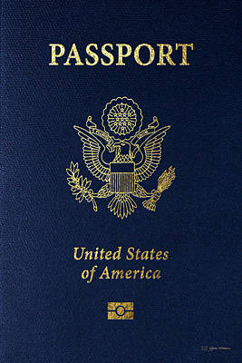 Digital Art - American Passport Cover  by Serge Averbukh