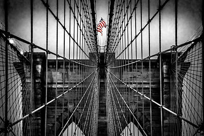 Brooklyn Bridge Photograph - American Patriot by Az Jackson
