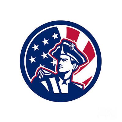 Digital Art - American Patriot Usa Flag Icon by Aloysius Patrimonio