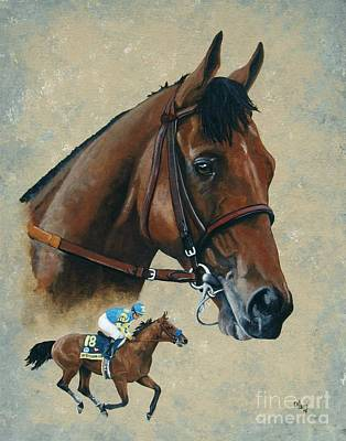 Horse Racing Painting - American Pharoah by Pat DeLong
