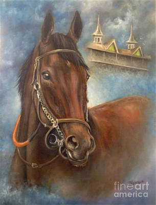 Kentucky Derby Painting - American Pharoah by Patrice Torrillo